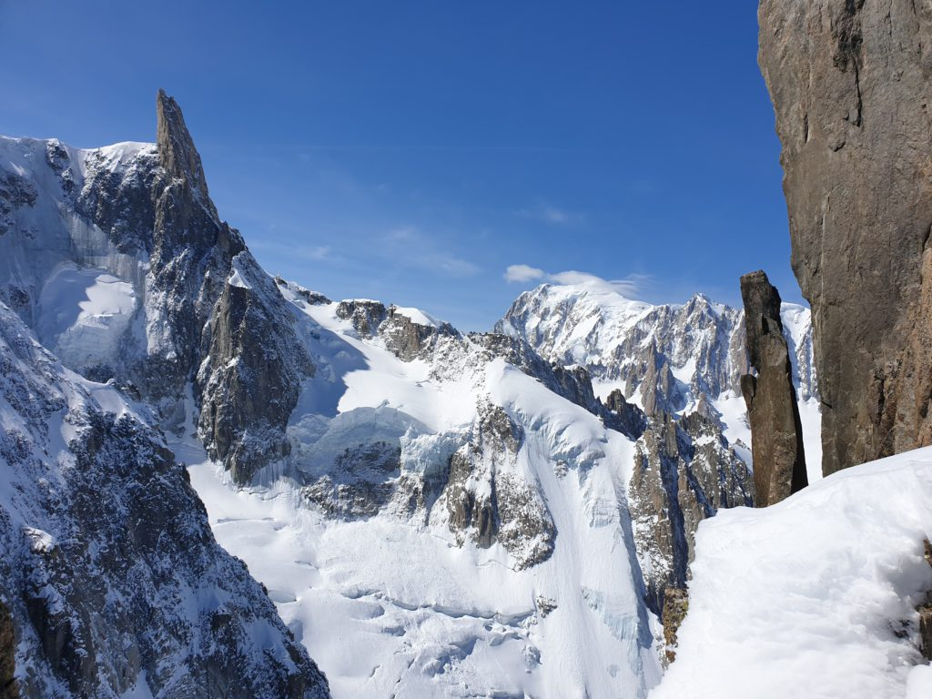 Dent du Geant and Mont Blanc